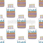 Lovely birthday cakes Seamless Vector Pattern Design
