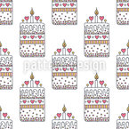 From cake with love Seamless Vector Pattern Design