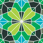 Mosaico Moderno Design de padrão vetorial sem costura