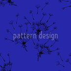 Flying Dandelions Seamless Vector Pattern