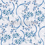 Blueberry Blue Seamless Vector Pattern Design