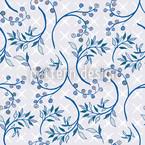 Heidelbeeren Blau Nahtloses Vektormuster