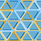 Triangles With Rounded Corners Seamless Vector Pattern Design