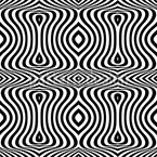 Verücktes Zebra Nahtloses Vektor Muster