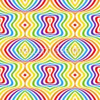 Verücktes Mehrfarbiges Zebra Vektor Muster
