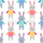 Rabbit Dolls Repeat Pattern