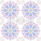 Floco de Neve Mandala Design de padrão vetorial sem costura