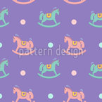 Rocking Horse Seamless Vector Pattern Design