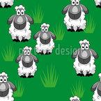 Süße Schafe Nahtloses Vektormuster