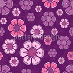 Flores de cerejeira floridas Design de padrão vetorial sem costura