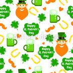 Green Day Seamless Vector Pattern