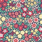 Flowerfield Seamless Vector Pattern Design