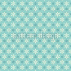 Simple Snowflake Seamless Vector Pattern