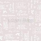 Frohe Weihnachten Variationen Nahtloses Vektormuster