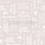 Merry Christmas Variations Seamless Vector Pattern Design