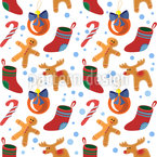 Christmas Time  Seamless Vector Pattern Design