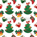 Cozy Christmas Seamless Vector Pattern Design