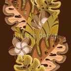 Tropische Blätter und Blüten Nahtloses Vektormuster