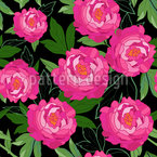 Peony Garden Dream Seamless Vector Pattern Design