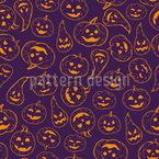 Halloween Gourd Seamless Vector Pattern