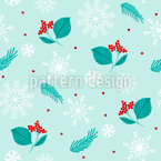 Twigs In The Snow Seamless Vector Pattern Design