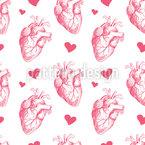 Herz zu Herz Nahtloses Muster