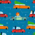 Christmas decoration drive Seamless Vector Pattern