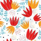 Stilisierte Tulpen Vektor Muster