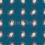 Funny Cartoon Santas Vector Design