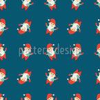 Lustige Comic-Weihnachtsmänner Vektor Design
