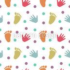Hand- und Fußabdrücke Muster Design