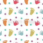 Hand and Footprints Pattern Design