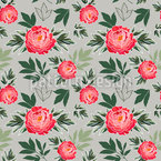 Peony In Spring Seamless Vector Pattern Design