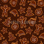 Christmas Cookie Bakery Seamless Vector Pattern Design