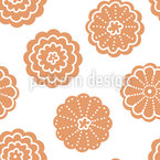 Gingerbread Cookies Seamless Vector Pattern Design