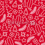 Christmassy Symbols Seamless Vector Pattern Design
