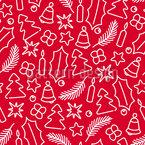 Weihnachtliche Symbole Nahtloses Vektormuster