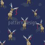 Weihnachtliches Rentier Musterdesign