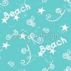 Festa na Praia Design de padrão vetorial sem costura