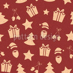 Christmas Items With Texture Seamless Vector Pattern Design