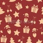 Weihnachtsartikel Mit Textur Nahtloses Vektormuster