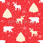 Holiday Animals Vector Pattern
