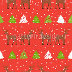Holiday Deers Vector Design