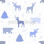 Stormy Holidays Repeating Pattern