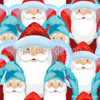 Santa Clause And Gnomes Repeat Pattern