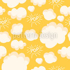 Popcorn Seamless Vector Pattern Design