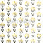 Doodle Blume-Symmetrie Nahtloses Vektormuster