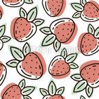 Erdbeer-Doodle Nahtloses Vektormuster
