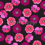 Pressed Poppy Flower Repeating Pattern