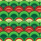 Rising Sun Waves Seamless Vector Pattern Design